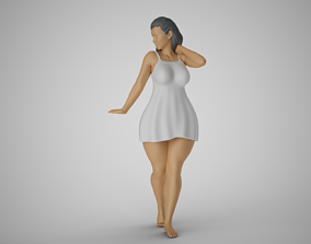 Cosy Young Woman 3D printable model