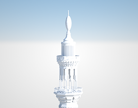 islamic Mosque tower 3D