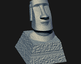 Moai Keycap STL for 3D print model