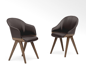 Potocco Lyz chair 918 and Lyz armchair 918 3D model