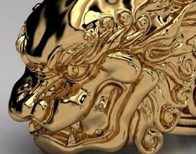 Jewelry ring for men Chinese dragon 3d model for 1