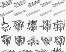 3D model Square Truss Standard Collection 24 Modular 1