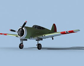 Curtiss H-75C Mohawk V16 Norway 3D model