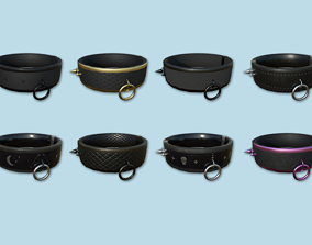 3D model 08 Gothic Choker Collar Collection - Character 1