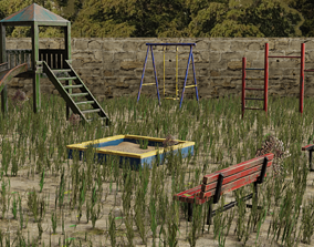 Abonded City - Playground 3D model