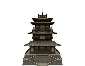 Modular Asian Castle 3D asset