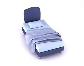 3D Retro Purple Bed