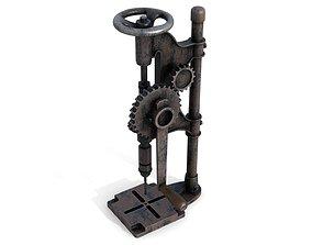 3D model Rusty Metal Drilling Machine