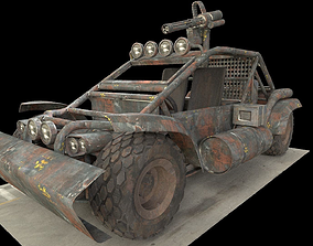 Apocalyptic buggy 3D model