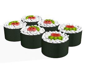 3D Sushi Japanese Japan Food rolls 3d model