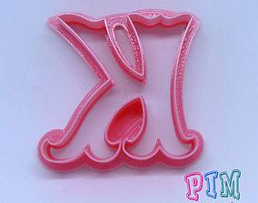 3D printable model Vintage letter K cookie cutter