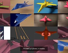 Printable jet planes 3D