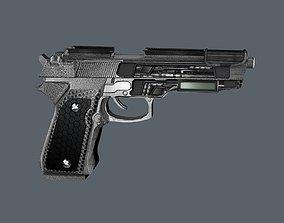 MX9 Cyberpunk Pistol Game Ready Asset - HD VR / AR ready