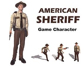 3D asset American Sheriff