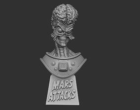 Mars Attacks bust 3D printable model