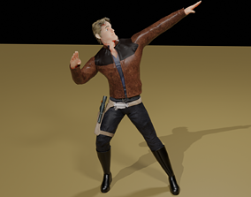 Character Low Polly Rigged 3D asset realtime