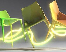 Chair Outline jump 3D model