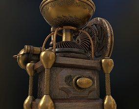 Coffee Grinder Steampunk 3D asset