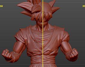 figure Goku Ultra instinc 3D and 2D Style