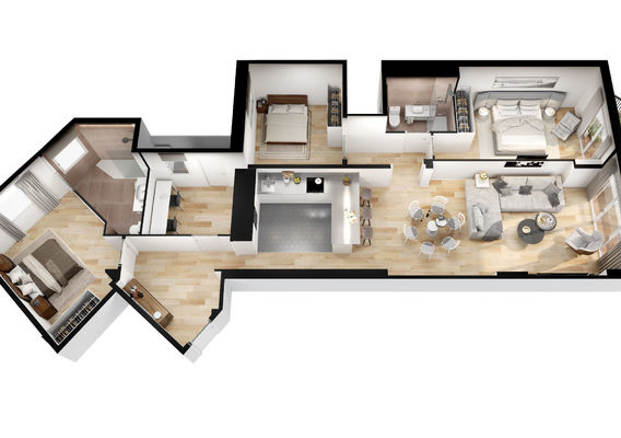 3D FLOOR PLAN FOR A REAL ESTATE PROMOTER