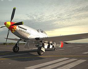 3D North American P-51 Mustang