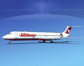 McDonnell Douglas MD-87 Midway 3D