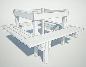 Around-the-Tree Bench 3D