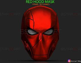 Red Hood Mask - TITANS season 3 - DC 3D printable model 1