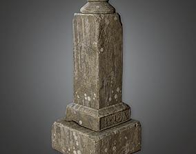 Grave Stone Cemetery 34 CEM - PBR Game Ready 3D asset