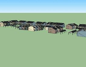 Condominiums complex 3D model