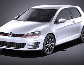 Volkswagen Golf VII GTI 2014 VRAY 3D model