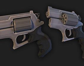 3D asset low-poly Revolver