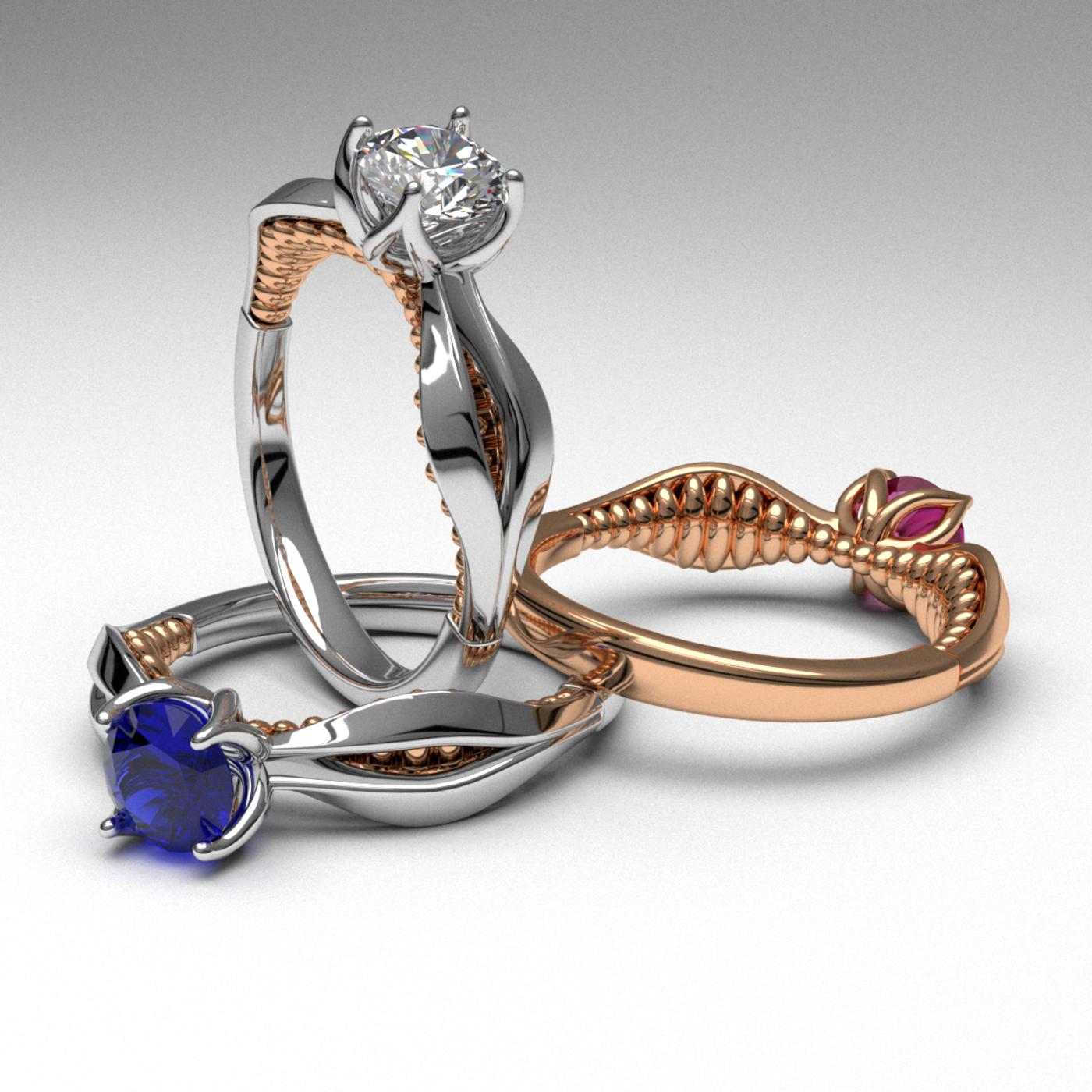 new unique design engagement rings!