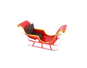 new Sleigh 3D model 3D model realtime