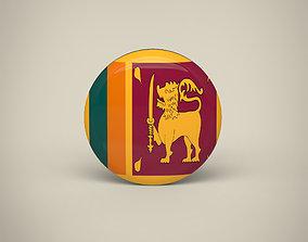 3D asset Sri Lanka Badge