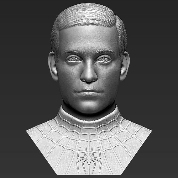 Spider-Man Tobey Maguire bust for 3D printing