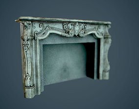 3D model Fireplaces - low poly