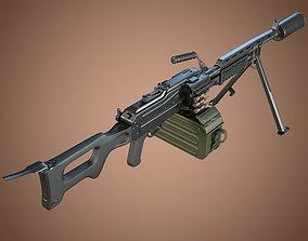aek Kalashnikov Barsuk AEK-999 Machine Gun 3D model