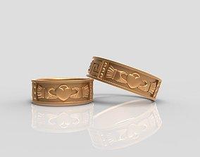 3D print model Claddagh wedding Rings