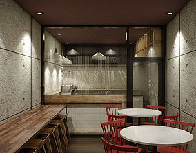 3D Small Coffee Shop