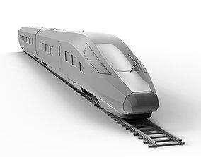 Fuxing Hao High-Speed Train 3D Model golden