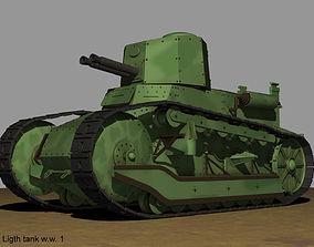 FT Fiat 3000 Ligth tank ww1 3D model