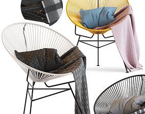 3D model Cult Furniture Armando Chair and Acapulco chair