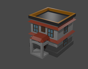 3D asset realtime balcony house