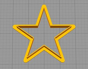 Star - COOKIE CUTTER 3D print model