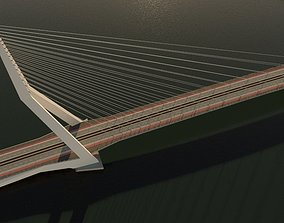 3D model highway Cable-stayed bridge