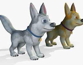 3D model Cartoon Dog Puppy