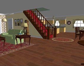 Scene 05 - interior living room 3D model