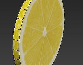 3D model Piece of Lemon