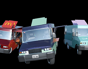 3D model Customizable Food truck